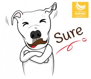 การออกแบบสติ๊กเกอร์ไลน์สุนัข รับทำสติ๊กเกอร์ไลน์สัตว์เลี้ยง