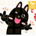 StickerLine กระต่ายดำนำโชค
